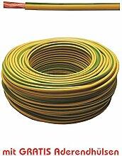 20m Erdungskabel 10mm² Grün/Gelb feindrähtig