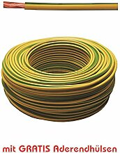 20m Erdungskabel 6mm² Grün/Gelb feindrähtig