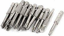 20pcs 50mm Länge T20 3mm Leiter Magnetic Sicherheit Torx-Schraubendreher-Bits