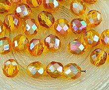 20pcs Kristall Gelb Bernstein Klar Orange Apricot