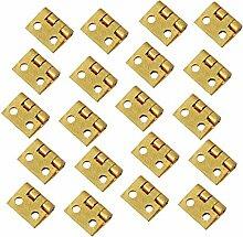 20Pcs Mini Metallscharnier Goldene Für Haus