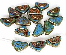 20pcs Picasso Blau Braun Bronze Waschen Dreieck