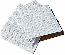 20Stück 60x60cm Selbstklebend 3D Brick Tapete
