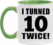 20th Birthday I Turned 10 Twice - 11oz Accent Mug