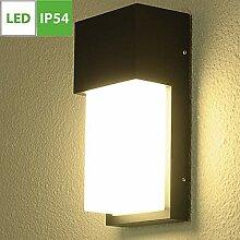 20W LED Außenwandleuchte, Schwarz