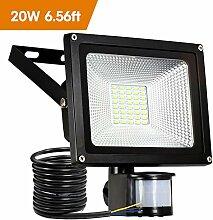 20W LED Strahler Bewegungsmelder LED Fluter