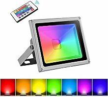20W RGB LED Strahler, Papasbox Farbig Fluter