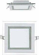20x 12W LED Panel Glas Abdeckung Einbaustrahler