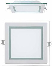 20x 15W LED Panel Glas Abdeckung Einbaustrahler