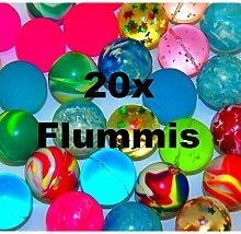 20x bunte Flummis Gummiball Hüpfball Springball