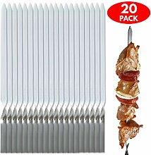 20x Edelstahl Grill-Spieße & Schaschlik-Spieße