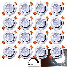 20X LED Einbaustrahler 5W 230V Dimmbar