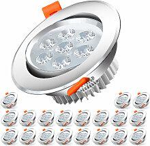 20X LED Einbaustrahler 7W 230V Einbauleuchte