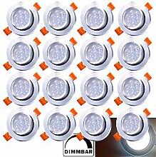 20X LED Einbaustrahler Dimmbar 7W 230V Dimmbar