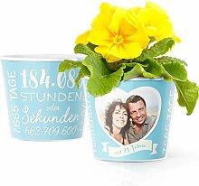 21. Hochzeitstag Geschenk – Blumentopf (ø16cm)