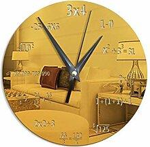 21-KING Mathematische Formel Wanduhr Spiegel