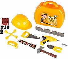 21 tlg. Kinder Werkzeugkoffer Werkzeugkiste