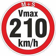 210 km/h 200 Stück Geschwindigkeitsaufkleber