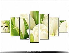 210 x 100 cm - Blumen - Tulpen - Tisch modern - Dekoration - Wanduhr neues DESIGN