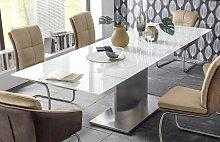 21714 Esstisch ausziehbar 180 - 260 cm Super White