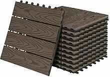 22 Stück WPC Fliesen Klickfliesen Holzfliese