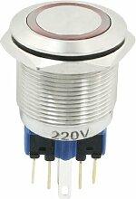 220VDC rot Lampe 6Pin NO NC 22mm