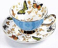 220ML Europäische Bone China Kaffeetassen und