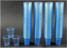 2250 Schnapsbecher / Medikamentenbecher / Farbe: Hellblau / 2cl – 3cl einweg Schnapsgläser / Exklusives Angebot der Marke EVENTpac