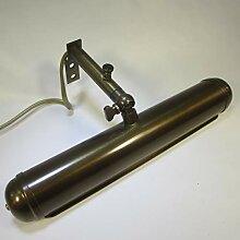 22cm Vintage Messing Bilderlampe Antik Stil