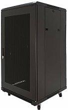 22U 48,3cm Server Rack Gehäuse 800mm/80cm Tief perforiert Tür emp-6822bk