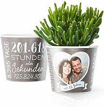 23. Hochzeitstag Geschenk – Blumentopf (ø16cm)