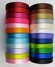 23Meter Satinband, 12mm, in mehreren Farben,