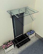 230 x 90 cm (3 Haltestangen) Glasvordach Vordach