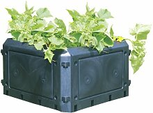 Bio Garten Abfall Kompost shelfplaza® HOME Komposter 90x75x75 506.25L