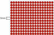 234 Strasssteine selbstklebend Glitzersteine zum Aufkleben rund Glitzer Aufkleber 5mm groß ro