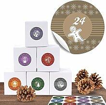 24 Adventskalender Pappschachteln mit 24