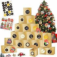 24 adventskalender zum befüllen,Weihnachten