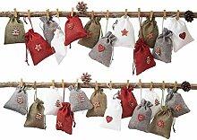 24 Adventskalender Zum Befüllen, Weihnachten