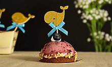 24Baby Dusche Cupcake toppers-gold Wale