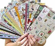24 Blatt Stempel-Set Label-Magazin
