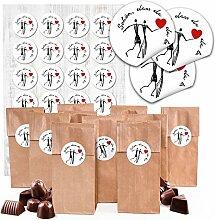 24 braune Papiertüten Geschenk-Verpackung -