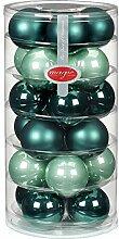 24 Christbaumkugeln Glas 6cm//Weihnachtskugeln