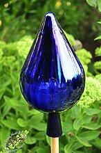 24 cm Gross Gartenkugel in Zapfenform dunkelblau