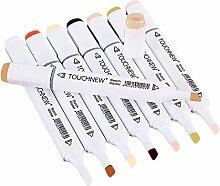 24 Farben Dual Tipps Twin Marker Stift Alkoholbasis Tinte Marker Mark Stifte Set Malen Zeichnung Lieferungen für Kunst Crafting Poster Malerei Färbung hervorheben