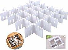 24 große verstellbare Schubladeneinteiler, extrem