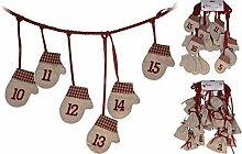 24 Jute Säckchen, Handschuhe oder Strümpfe zum