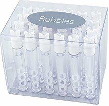 24 Kleine Seifenblasen Hochzeit, weiß, Mini