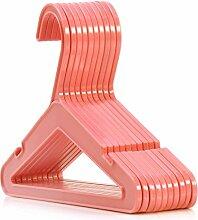 24 KUNSTSTOFF-KLEIDERBÜGEL – FARBE: PINK - Ideal für Baby- und Kleinkindkleidung - 26 cm Breite Hangerworld