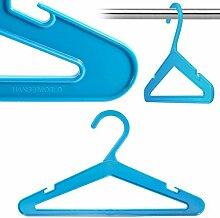 24 Kunststoff-Kleiderbügel in blau - Ideal für Baby- und Kleinkindkleidung - 26 cm Breite