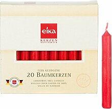 24 Packungen Christbaumkerzen rot, 20er Pkg